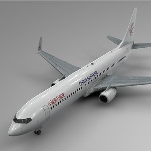 china eastern airlines boeing 737-800 3D model