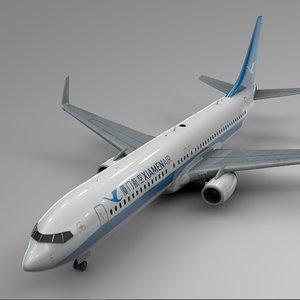 3D xiamen air boeing 737-800