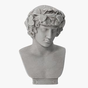 dionysus bust ivy 3D model