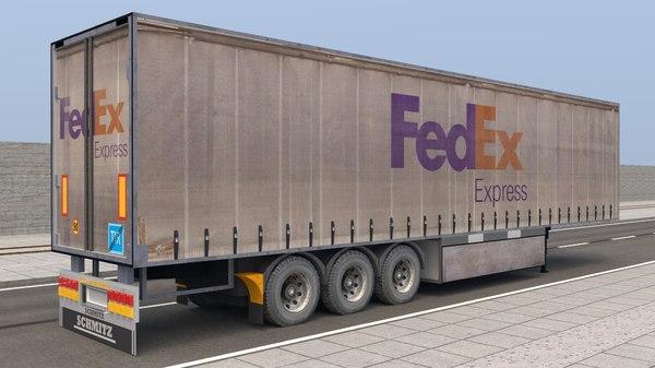 trailer truck semi model