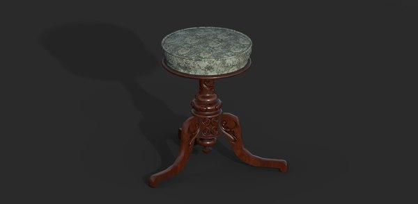 3D victorian piano stool model