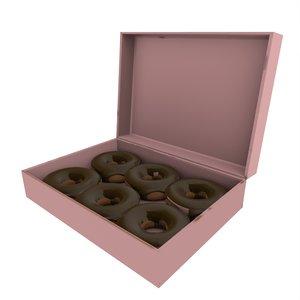 3D donut box