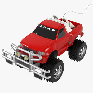 realistic toy rc car 3D model