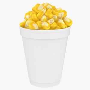 3D model realistic corn cup