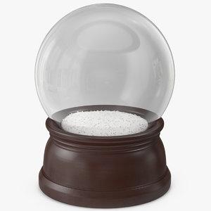 3D christmas snow globe