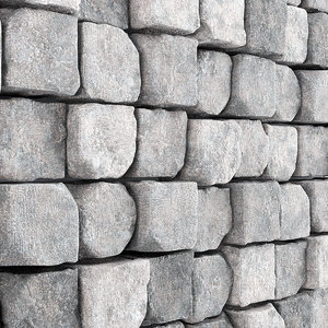 3D panel stone brick model