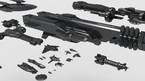 spaceship pack 3D
