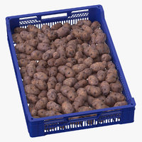 3D postharvest tray purple potatoes