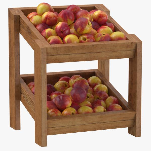 wooden merchandise shelf 02 model