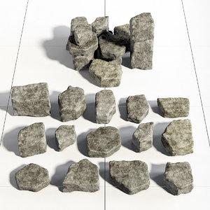 3D model stone rock