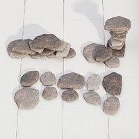 stone rock model
