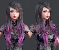 polygon hair 11 3D model