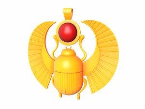 3D egypt beetle