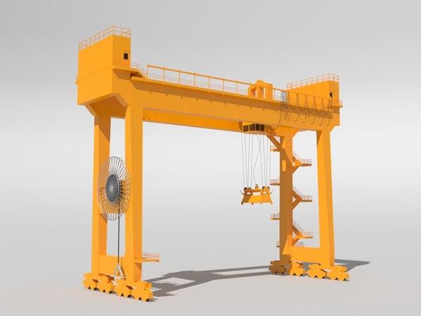 3D model gantry crane rtg