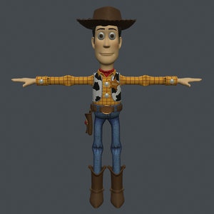 rigged woody model
