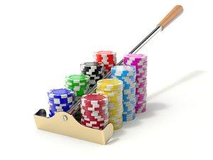 chip roulette rake 3D model