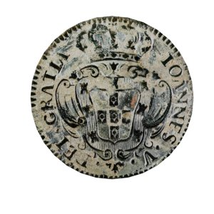 old ancient portugal coin 3D model