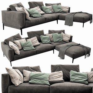 3D flexform romeo chaise lounge