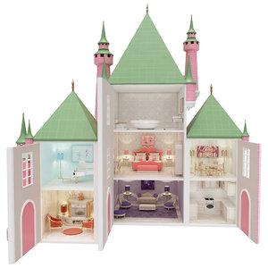 princesses castle dollhouse 3D model
