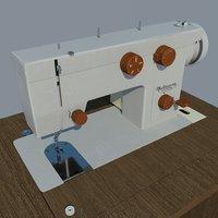 sewing machine seagull 3D model