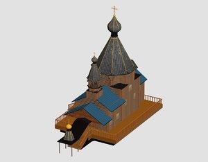 3D model orthodox russian church