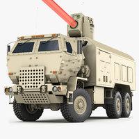 3D laser weapon model