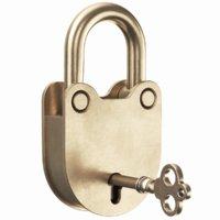 3D model real padlock key