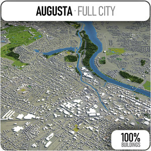 3D model augusta surrounding -