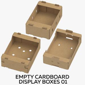 3D model cardboard display boxes 01