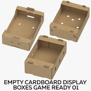 3D cardboard display boxes ready model