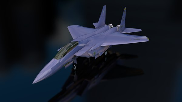 3D f-15 e strike eagle model