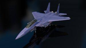 3D f-15 e strike eagle model