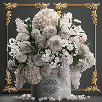 3D bouquet flowers gift box