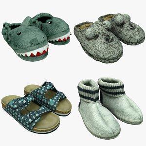 3D slippers games model