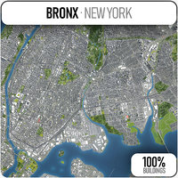 3D bronx surrounding - model