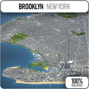 3D model brooklyn surrounding -