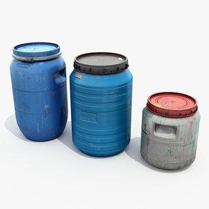 3D large barrels model