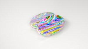 3D multi color candy model