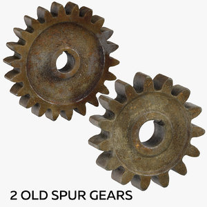2 old spur gears 3D model