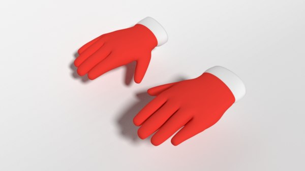 christmas gloves cartoon 3D