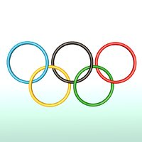 olympic logo 3D model