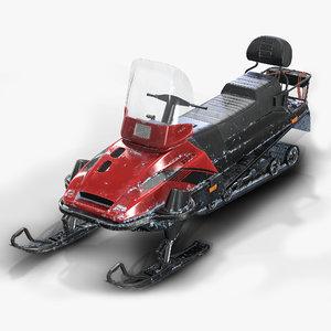 snowmobile pbr unity5 3D