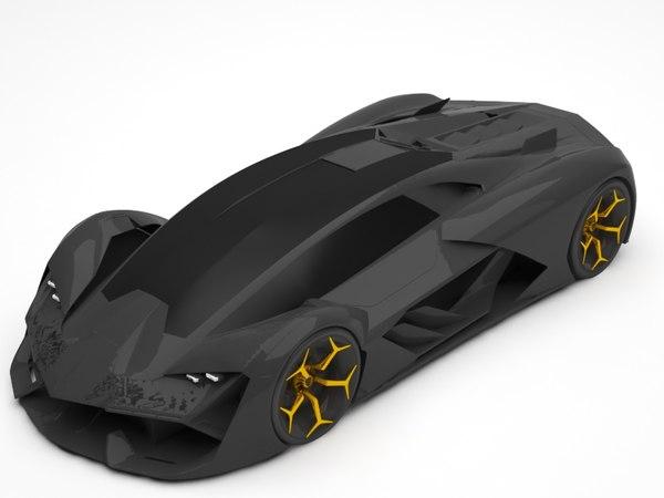 3D lamborghini car vehicle
