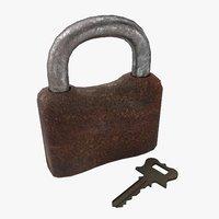 old lock 3D