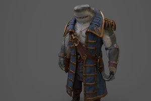 shark human model
