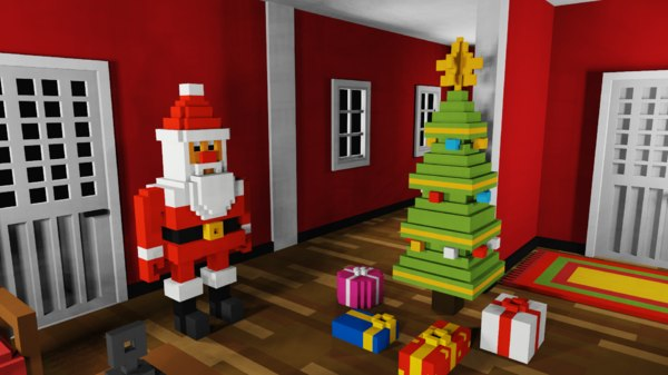 3D voxel christmas pack vox model