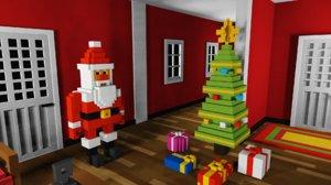 3D voxel christmas pack vox model