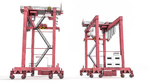 rubber tyred gantry 3D