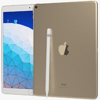 3D realistic apple ipad air model