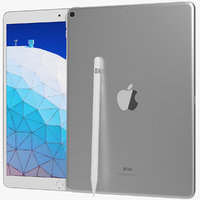 realistic apple ipad air 3D model